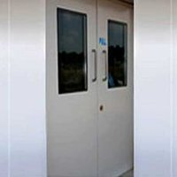 Double Shutter Swing Door With 40mm Thick Honeycomb Panel