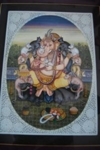 Lord Ganesha With The Mouse Painting