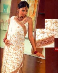 Fully Embroidered Sarees