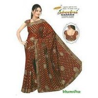 Rajkot Jari Butti With Embroidery Saree