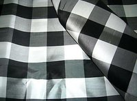 Silk Taffeta Bold Check Fabric