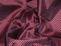 Small Check Silk Taffeta Fabric