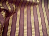 Shirred Stripe Silk Taffeta Fabric