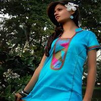 Cotton Kurti With Patch Work