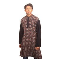 Black Kantha Gents Kurtas