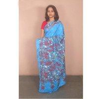 Blue Kantha Silk Sarees