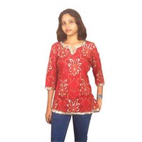 Red Sequins Ladies Tops