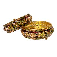 Beaded Kundan Trendy Bangles