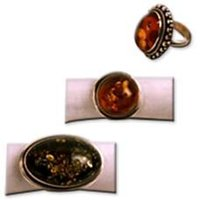 Amber Stone Studded Traditional Rings