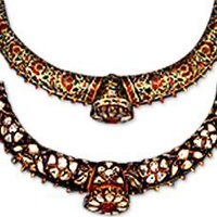 Gold Enamelled Necklace