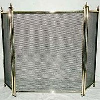 Metal Infused Fireplace Screens