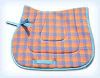 Cotton Polyester Check Fabric Saddle Pads