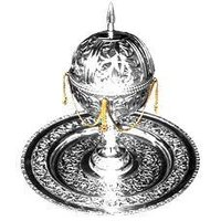 Silver Designer Incense Burner