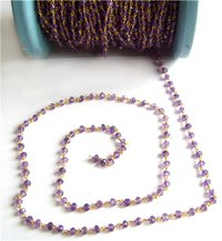 Amethyst Faceted Roundel Chain