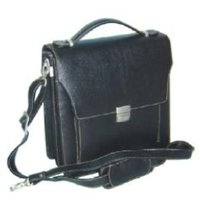 Cactus Black Leather Business Bag