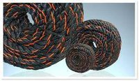 Black Pp Mono Rope With Orange Tracer