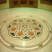 Marble Inlay Vard Flooring