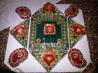 Wooden Rangoli In Square Form