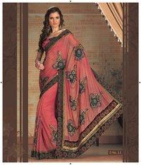 Designer Hand Embroidery Sarees