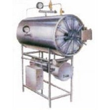 Horizontal Cylindrical Sterilizer with Electric Steam Generator