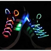 Blue LED Flashing Shoelace Bootlace Latchet Lace Shoestring