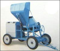 Concrete Mixer With Hydraulic Type Hopper