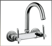 Wall Mounted Sink Mixer With Swivel Spout
