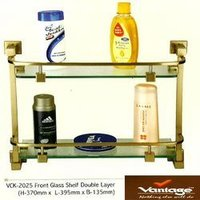 Double Layer Front Glass Shelf