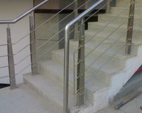 Sleek Stainless Steel Railings