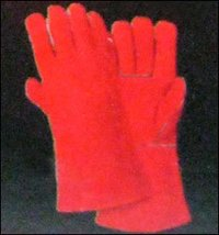 Full Lining Cow Split Leather Welder Gloves
