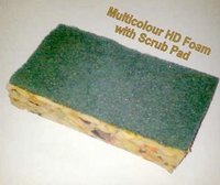 Multicolor HD Foam With Scrub Pad