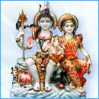 Shiv Parvati Marble Statues