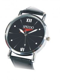 Designer Round Shape Wrist Watch With Leather Strap
