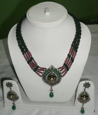 Necklace With Colour Beads