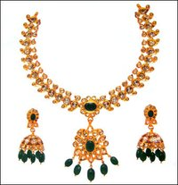 Ladies Gemstone Necklace Set