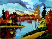 Acrylic On Canvas Nature Paintings