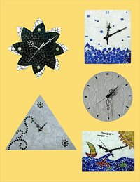 Mosaic Wall Clocks