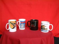 Bone China Picture Printed Coffee Mugs