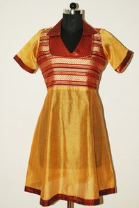 Golden Yellow Anarkali Suits