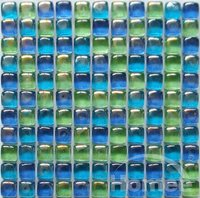 Cube Crystal Glass Mosaic Metallic Glass Bathroom Tiles