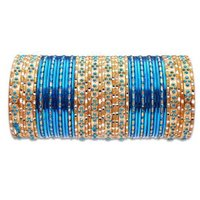 Ethnic Metal Bangles Set