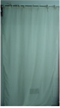 White Color Cotton Curtains