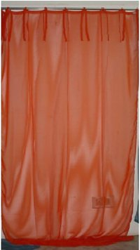 Orange Color Cotton Curtains