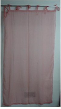 Light Pink Color Cotton Curtains