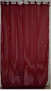 Red Color Cotton Curtains