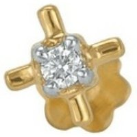 Gold And Diamond Nose Pins
