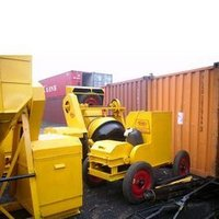 Tower Hoist and Concrete Mixer
