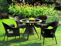 Outdoor Wicker Table And Chair Set