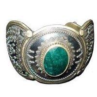 Antique Green Stone Bangle