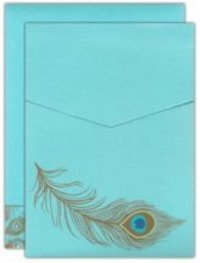 Peacock Theme Invitation Cards